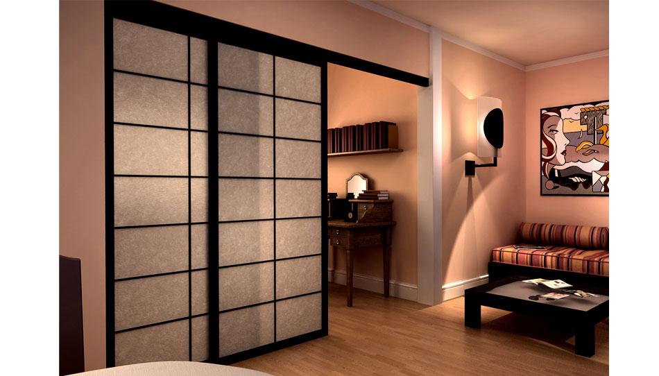 Shoji sliding doors japan fourniture cinius - Lapeyre cloison coulissante ...