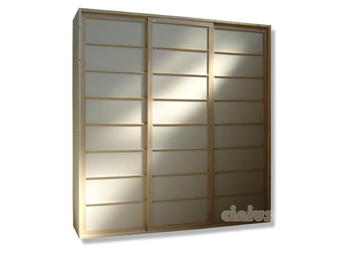 armadio in abete massello conta ante shoji in faggio. Black Bedroom Furniture Sets. Home Design Ideas