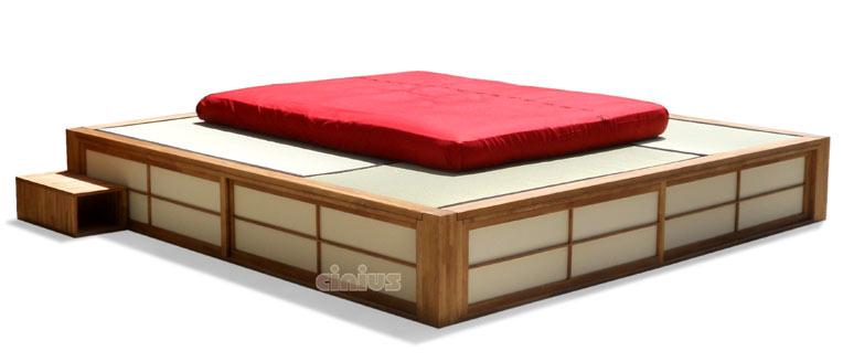 Cinius lit en bois podio lit japonais plateforme avec surface - Estrade en bois pour lit ...