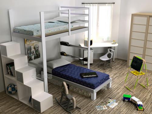 lit mezzanine sur mesure gagner de la place avec un lit mezzanine with lit mezzanine sur mesure. Black Bedroom Furniture Sets. Home Design Ideas