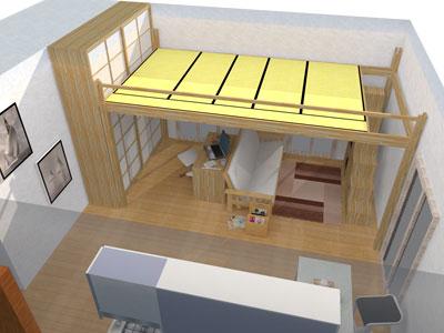 lit mezzanine yen mezzanine en bois r glable. Black Bedroom Furniture Sets. Home Design Ideas