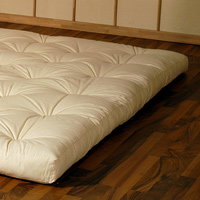cinius matelas futon original japonais en fibre de coton avec insertions en latex et coco. Black Bedroom Furniture Sets. Home Design Ideas