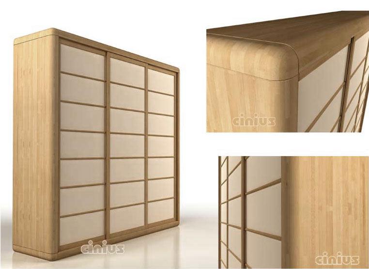 Armadio arca di cinius legno massello ante scorrevoli - Sgravi fiscali acquisto mobili ...