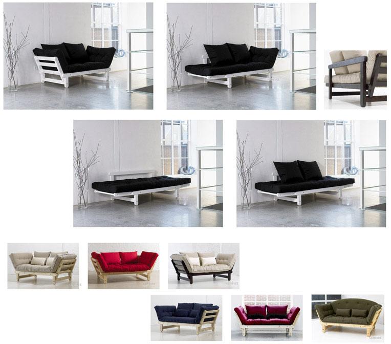 Cinius divano letto futon sole eco - Divano letto hotel ...