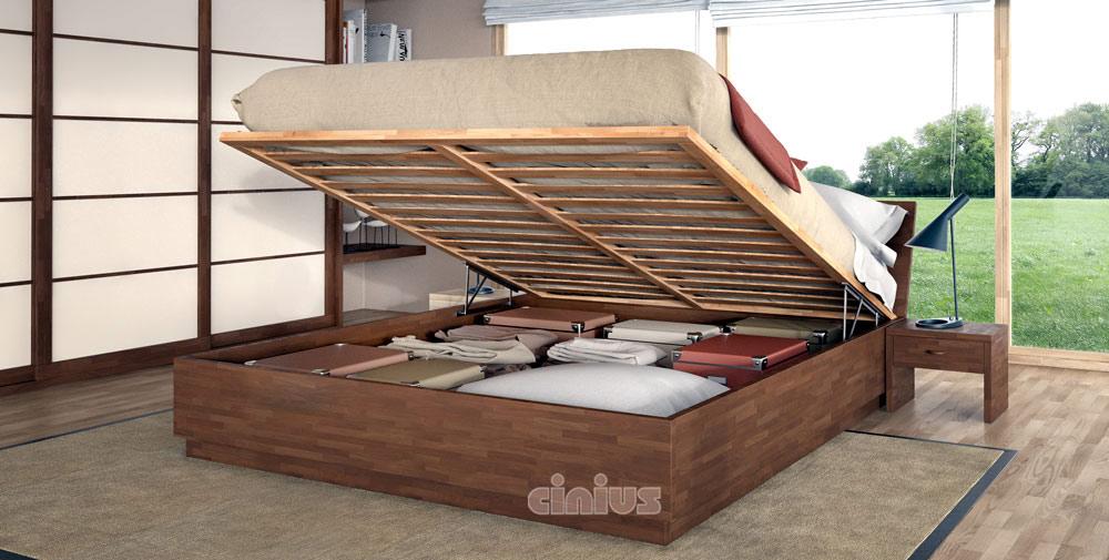 Letto Box di Cinius: arredamento salvaspazio in legno massello