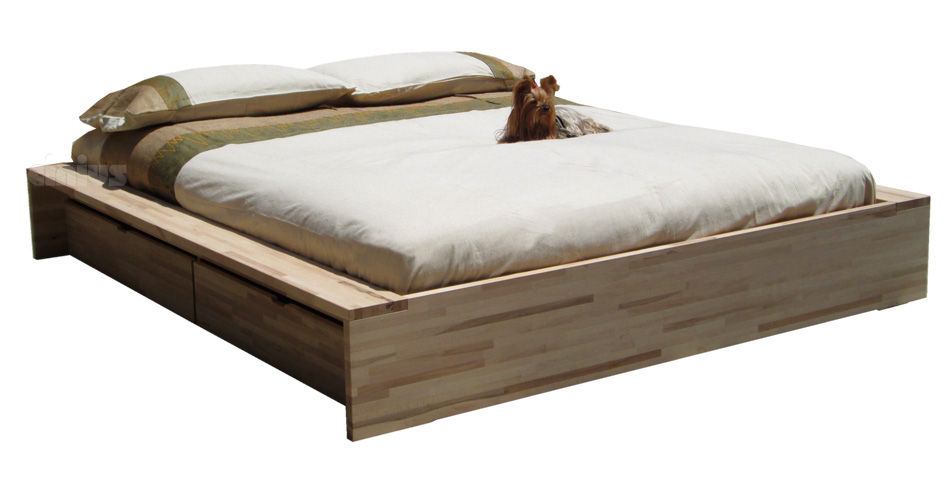 Letto Comodo è un letto contenitore in legno massello di faggio con ...
