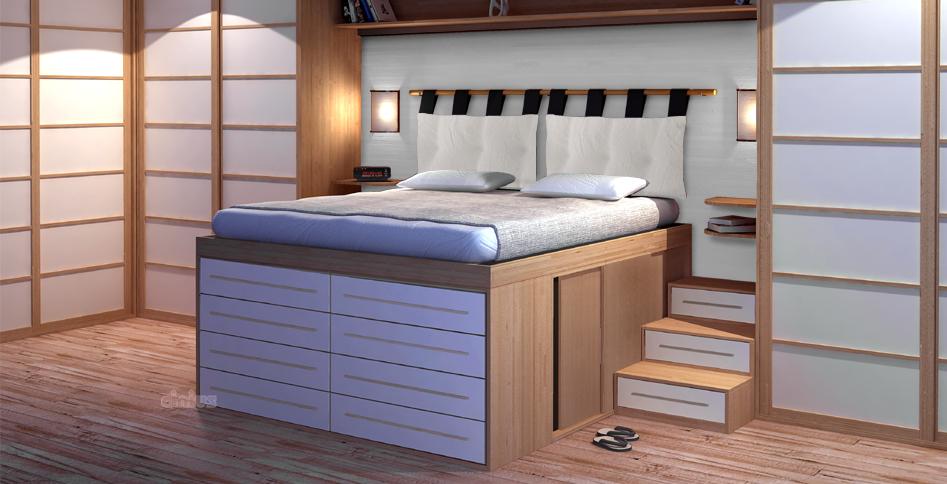 Letti salvaspazio per ottimizzare lo spazio in camera da - Costruire letto matrimoniale ...