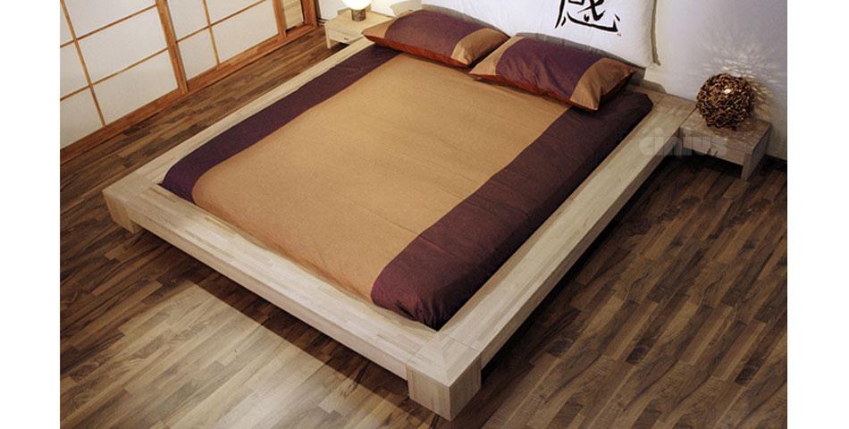 Letto isola di cinius stile giapponese in legno massello for Legno giapponese