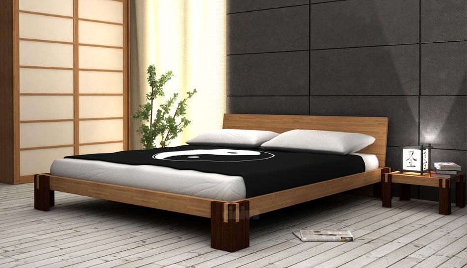 Letto Tokio F di Cinius: in legno massello, moderno e personalizzabile