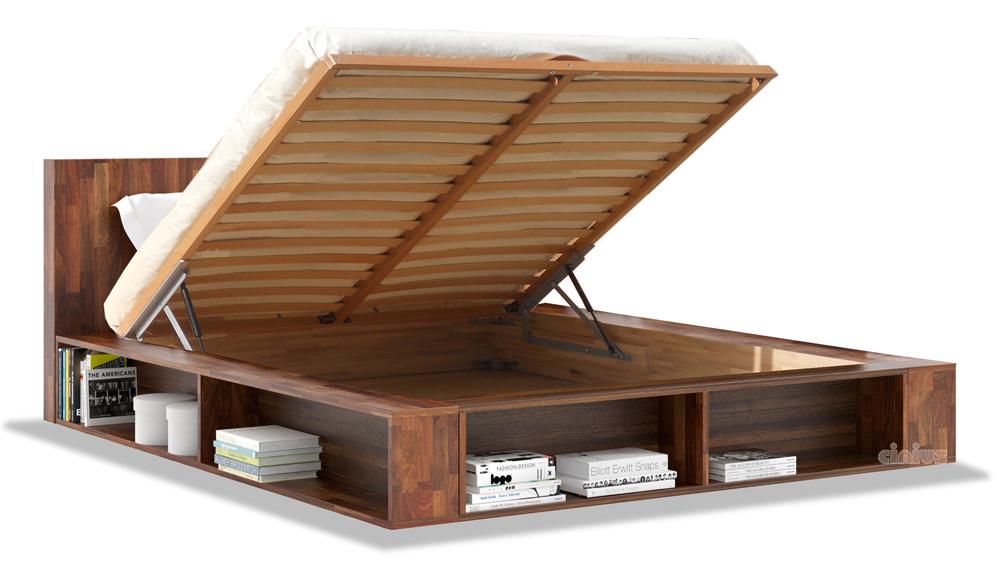 Letto biblio di cinius arredamento salvaspazio in legno - Sgravi fiscali acquisto mobili ...