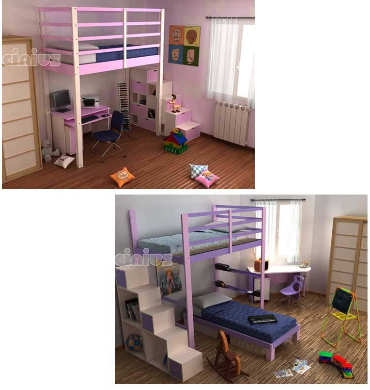 Cinius letto nido camerette letto a castello realizzato anche su misura che consente di - Letto a soppalco cinius ...