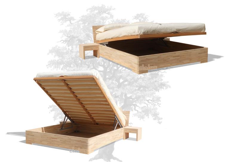 Letto box up di cinius arredamento salvaspazio in legno massello - Letto contenitore legno prezzi ...