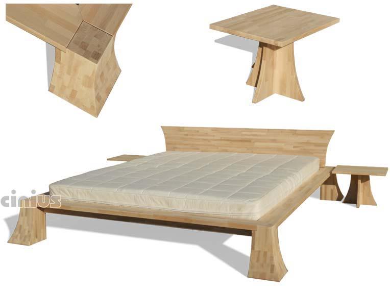 Cinius letto pagoda struttura letto dalle forme morbide e arrotondate letto giapponese - Letto in legno grezzo ...