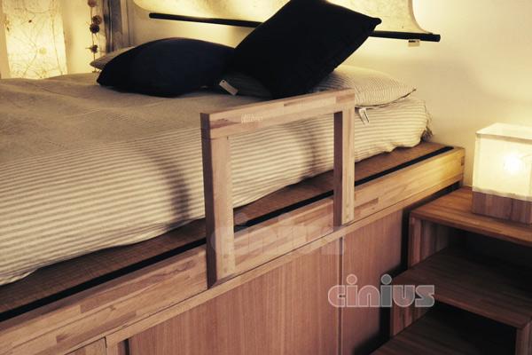 Letto impero con mobiletto a ante scorrevoli di cinius il - Un letto in una nicchia ...