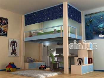 Soppalco Rising di Cinius: ad altezza regolabile elettricamente