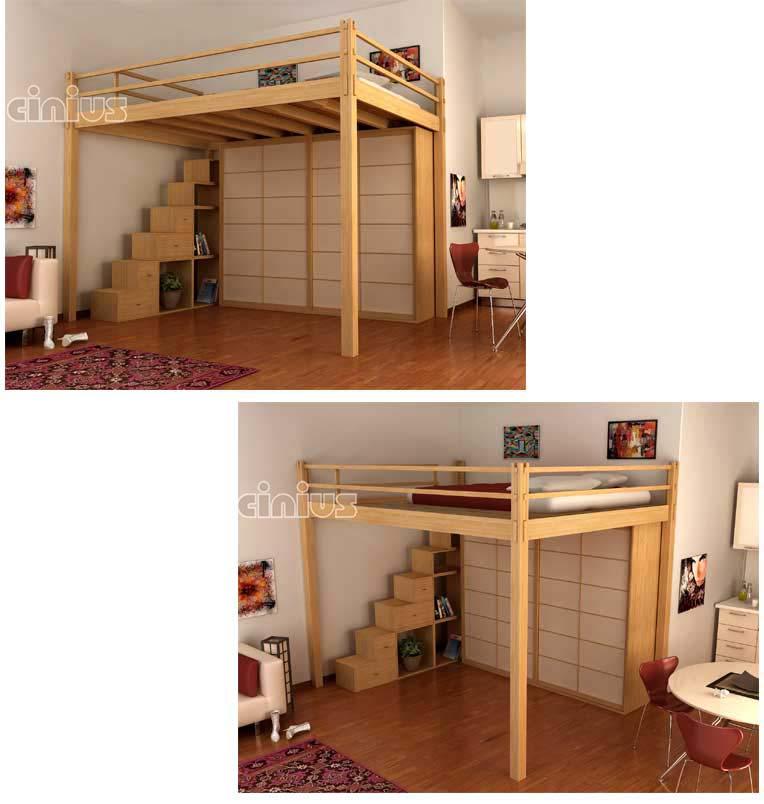 Cinius soppalco o letto a soppalco yen un nuovo modo di - Letto a soppalco in legno ...