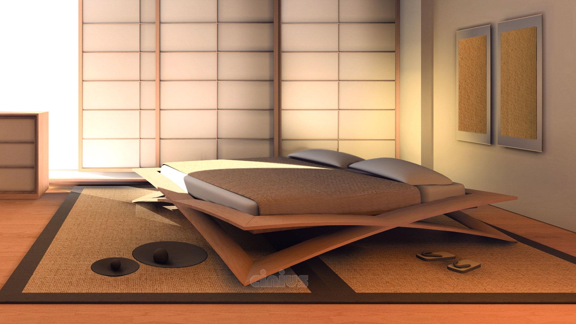 Letto loto di cinius la sublime lavorazione artigianale - Letto giapponese ...