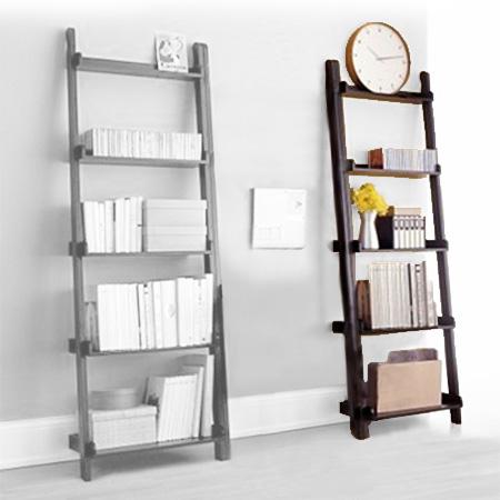 Librerie da appoggio cinius: modelli yat e scaletta in legno massello