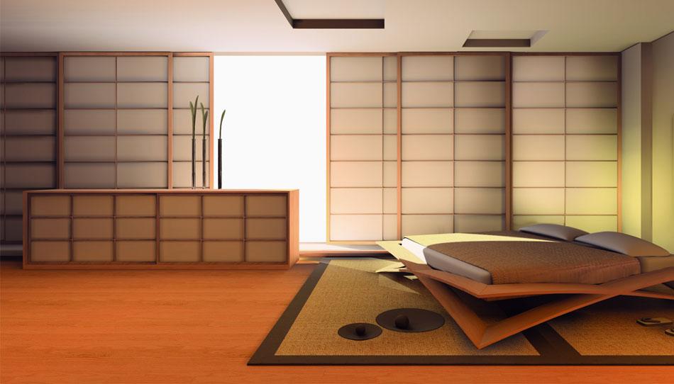 Porte e pareti scorrevoli shoji in stile giapponese cinius for Pareti per dividere una stanza