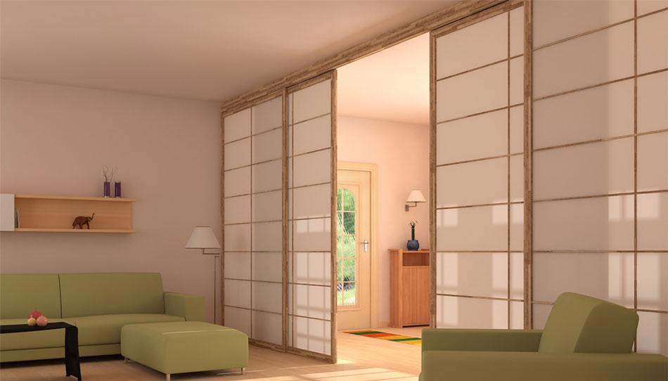 Porte E Pareti Scorrevoli Shoji In Stile Giapponese | Cinius