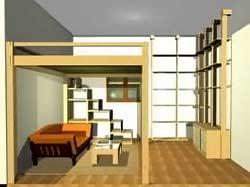 Cinius progetti disegni di mobili letti a soppalco cabine armadio pareti scorrevoli e - Letto a soppalco cinius ...