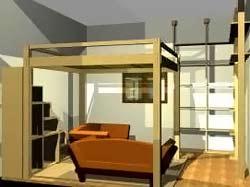 Cinius progetti disegni di mobili letti a soppalco - Progetto letto a soppalco ...