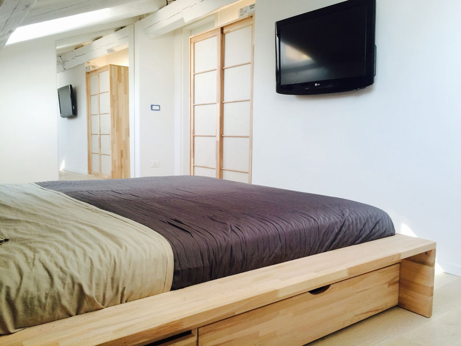 Cinius foto progetti realizzati di mobili su misura letti a soppalco cabine armadio - Letto a soppalco cinius ...