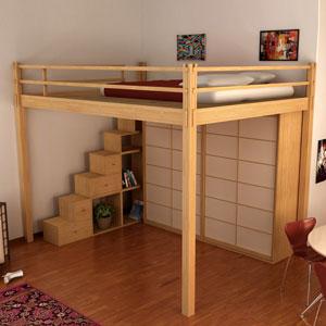 Letti a soppalco cinius soppalchi calpestabili in legno for Piano di costruzione in legno soppalco