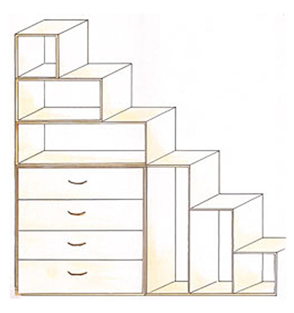 bcherregal treppe yen. Black Bedroom Furniture Sets. Home Design Ideas