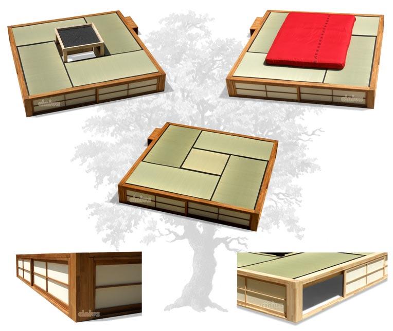 Japanisches Bettgestell. Great Bett Podio Futonbett Holzbetten ...