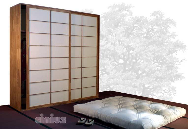 Ante Scorrevoli In Plexiglass.Wardrobe In Beech Japan Fourniture Cinius