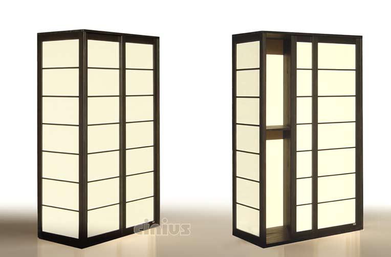Ante Scorrevoli In Plexiglass.Wardrobe Shoji Japan Fourniture Cinius