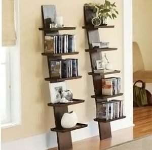 cinius bibliotheques modulaires chelle et d 39 appui mur en bois kit de montage simples. Black Bedroom Furniture Sets. Home Design Ideas