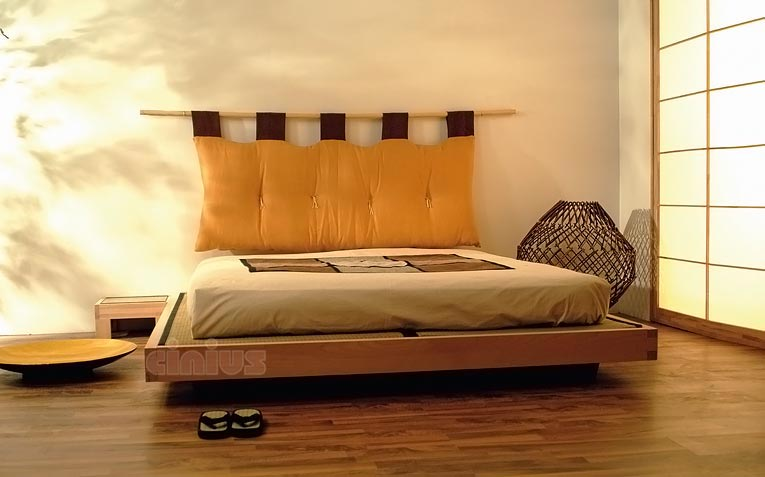 cinius lit en bois luna lit japonais en h tre massif. Black Bedroom Furniture Sets. Home Design Ideas