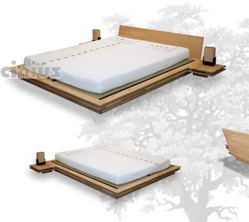 cinius lit en bois toki le go t typiquement japonais de ce lit s 39 exprime dans un. Black Bedroom Furniture Sets. Home Design Ideas
