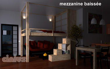 cinius lit mezzanine rising mezzanine r gable lectriquement en hauteur une nouvelle fa on. Black Bedroom Furniture Sets. Home Design Ideas