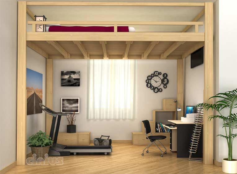 loft bed ideas on pinterest loft beds bunk bed and studio apartment layout. Black Bedroom Furniture Sets. Home Design Ideas