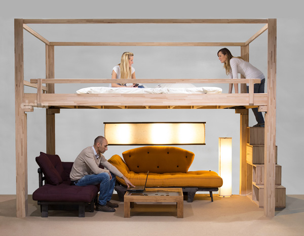 cinius lit mezzanine rising mezzanine rgable. Black Bedroom Furniture Sets. Home Design Ideas