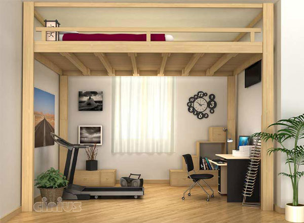 mezzanine ou lit mezzanine rising. Black Bedroom Furniture Sets. Home Design Ideas