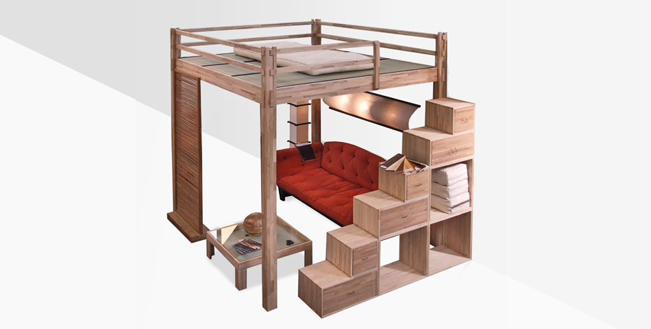 cinius lit mezzanine yen une nouvelle fa on de vivre vos espaces une pi ce en plus. Black Bedroom Furniture Sets. Home Design Ideas