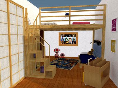 rising pour la chambre des enfants. Black Bedroom Furniture Sets. Home Design Ideas