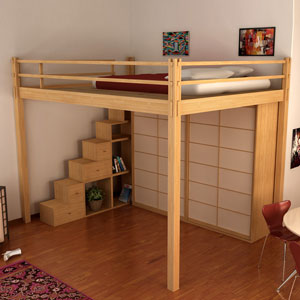 cinius lit mezzanine lits escamotables mezzanine fixe. Black Bedroom Furniture Sets. Home Design Ideas