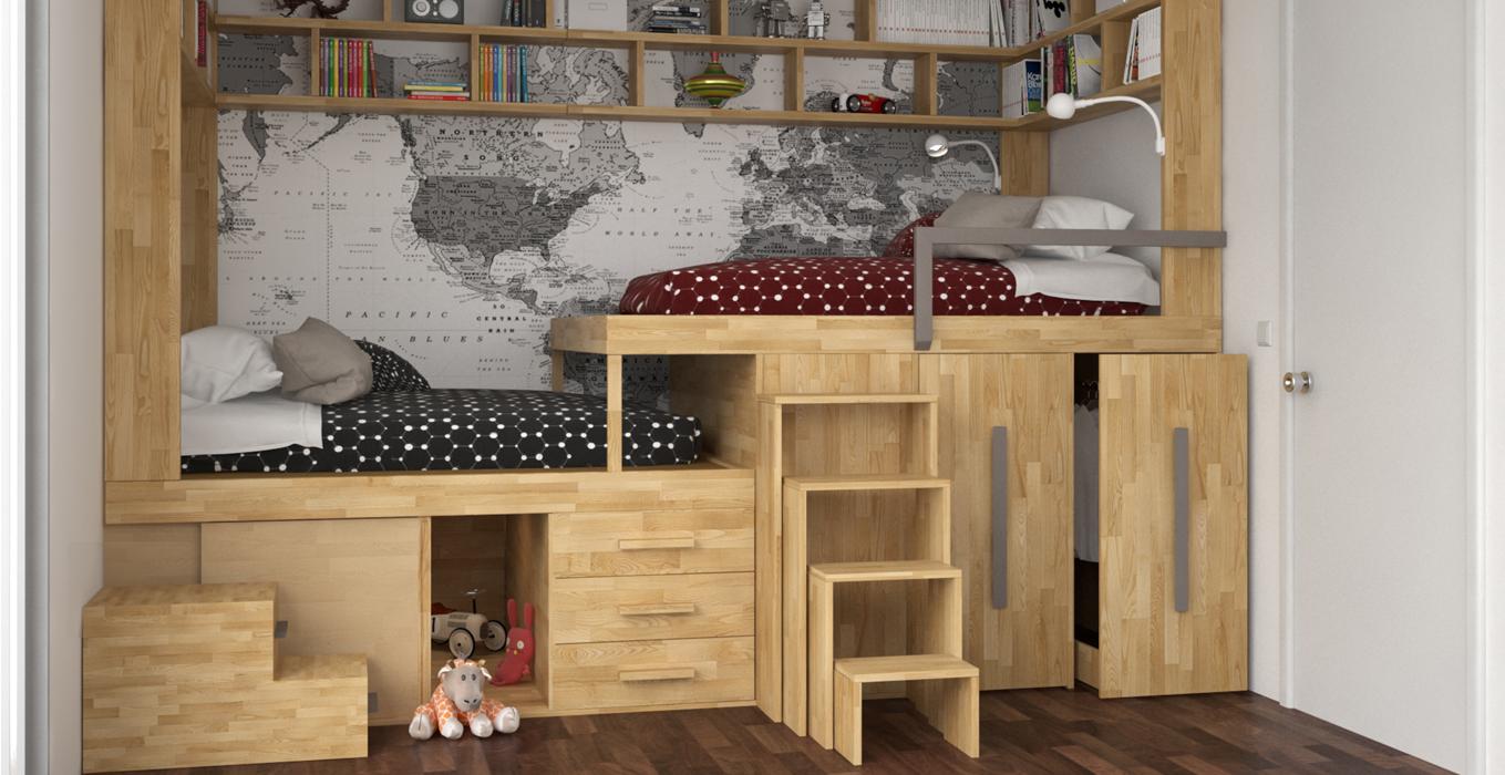 Idee Per Soppalco In Legno cinius: arredamento ecologico in legno massello