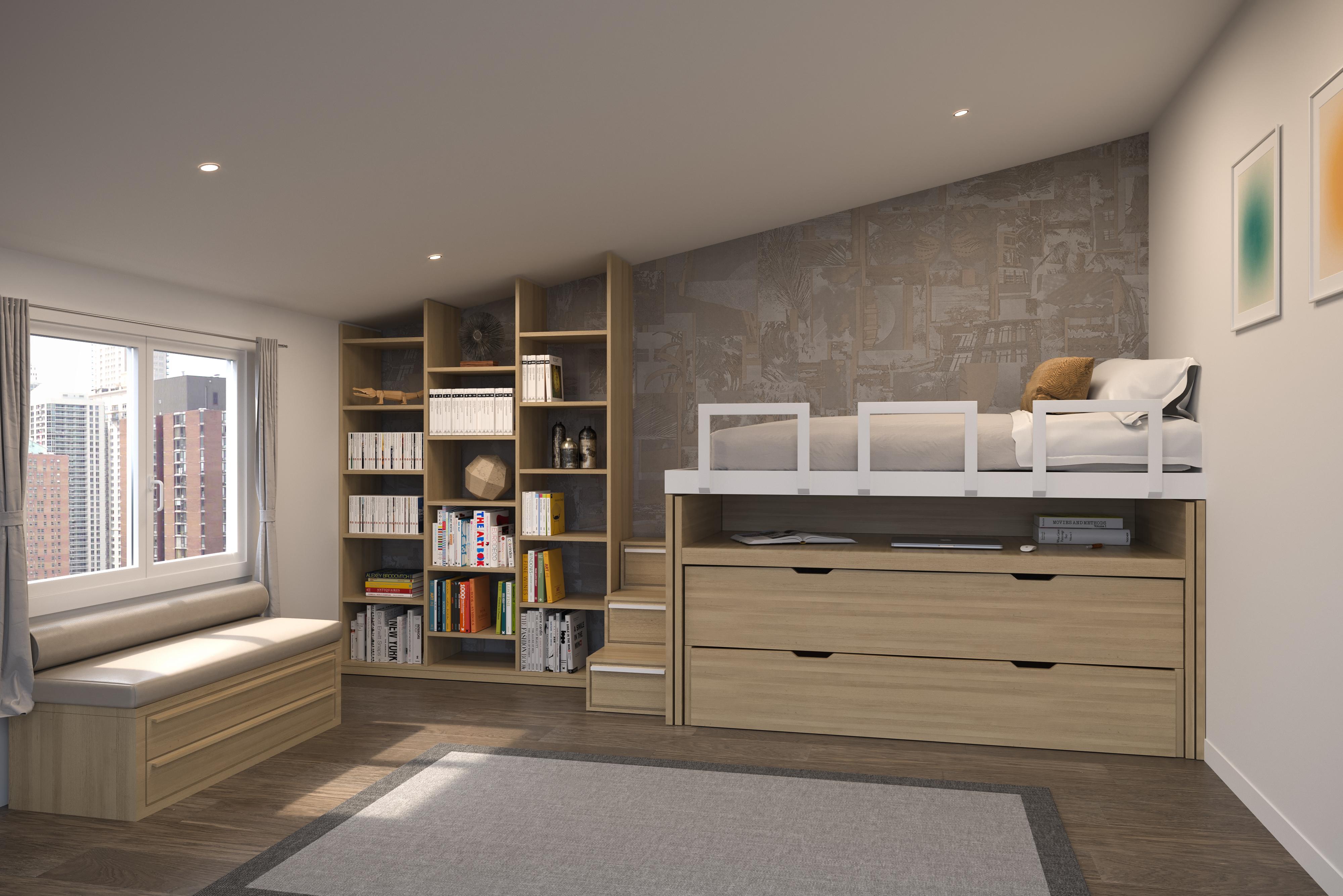 Aménager Bureau Chambre Amis spaziobed - lit gain de place - gigogne