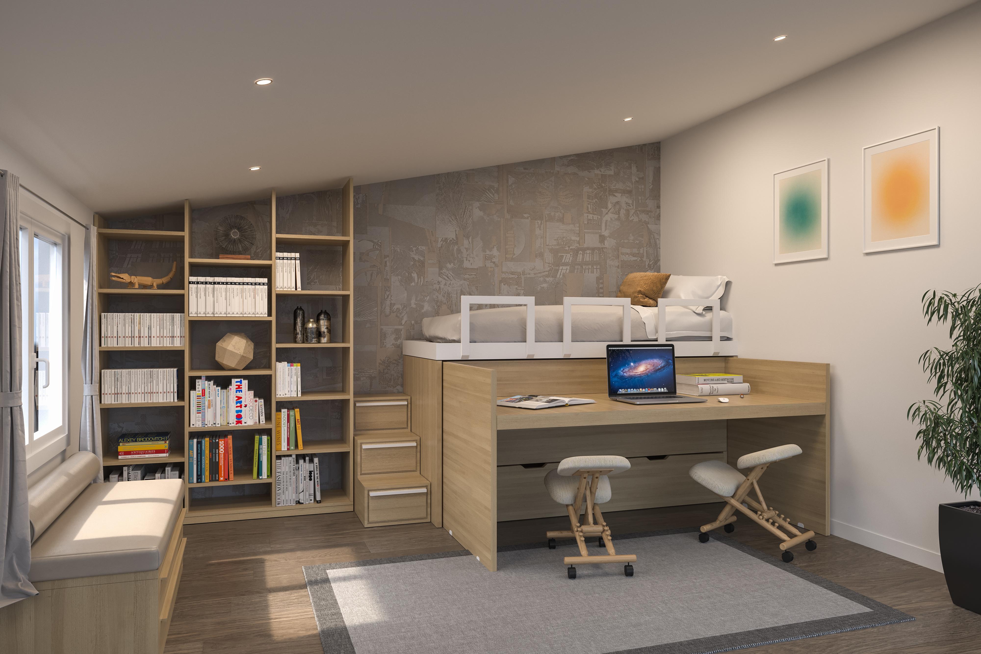 Idee Camere Da Letto Salvaspazio cinius: arredamento ecologico in legno massello