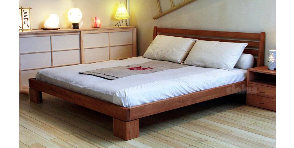 Letto aurora di cinius in legno massello anche con contenitore - Letto matrimoniale giapponese ...