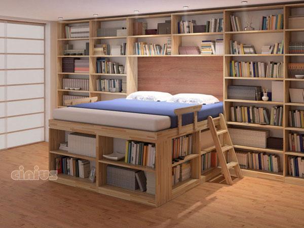 Letto Biblioteca Di Cinius Dormire In Una Libreria Immersi Nei Libri