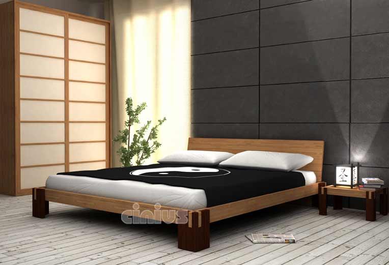 Cinius - Letto tokyofF - Letto Giapponese in stile essenziale Zen, adatto per qualsiasi ambiente