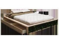 Letti Cinius: arredamento zen in pregiato legno massello ecologico