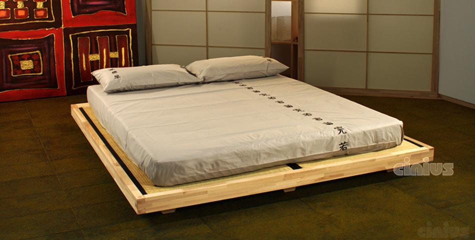 Letti In Legno Grezzo : Letto luna di cinius struttura sospesa in legno massello con tatami
